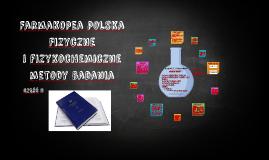 Copy of Fizyczne i fizykochemiczne metody badań