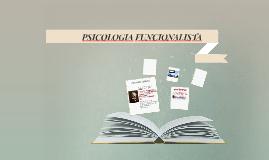 PSICOLOGIA FUNCIONALISTA