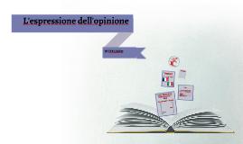 L'espressione dell'opinione in italiano (2a versione)