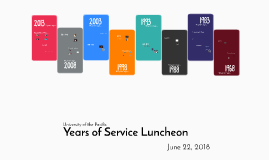 Years of Service Luncheon 2018