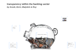 transparency within the banking sector