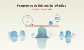 Programas de Educación Artística