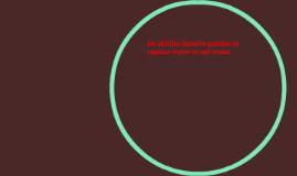 Do skittles dissolve quicker in regular water or salt water