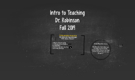Copy of Introduction to Teaching - Classes 5 and 6