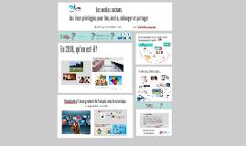 Atelier 101- Les médias sociaux : lieux privilégiés pour lire, écrire, échanger et partager