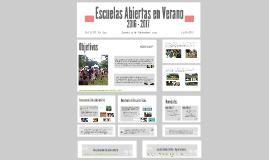 Escuelas Abiertas en Verano 2016-2017