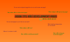Room 17's Wiki Development Process.
