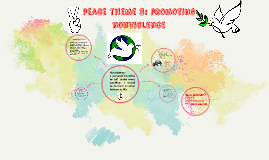 peace theme 3: promoting nonviolence
