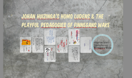 Johan Huizinga's Homo Ludens and The Playful Pedagogies of Fin