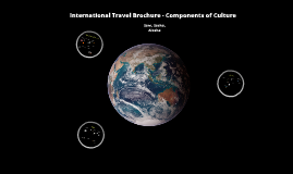 International Travel Brochure - Components of Culture