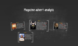 Magazine advert analysis