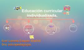 Educación curricular individualízada.