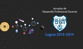 Logros Instituto Educacional Juan XXIII 2013-2014