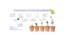 Fiziologija rasta i razvića biljnih organizama