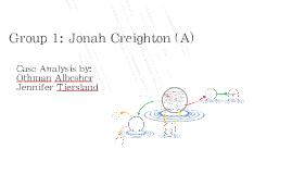 Group 1: Jonah Creighton (A)