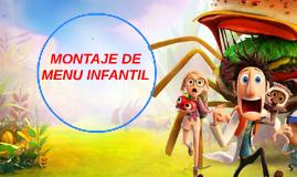 MONTAJE DE MENU INFANTIL