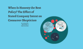 When Is Honesty the Best Policy? The Effect of Stated Compan