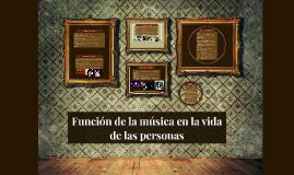 Función de la música en la vida de las personas