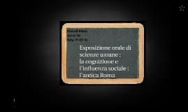 la cognizione e ;influenza sociale