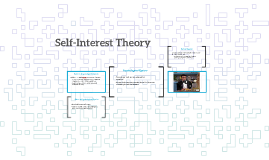 Self-Interest Theory