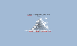 Sabah Earthquake, June 2015