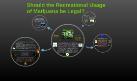 Should Recreational Usage of Marijuana be Legal?
