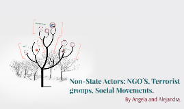 Non-State Actors: NGO´S, Terrorist groups, Social Movenments