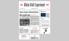 Bikini Atoll Experiment