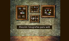 Elección de fotografías para web