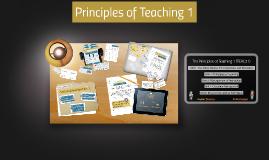 Principles of Teaching 1