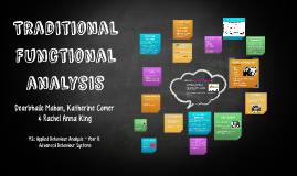 Traditional Functional analysis