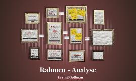 Rahmen - Analyse