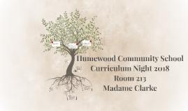 Humewood Community School Curriculum Night 2017