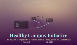 Healthy Campus Initiative Meeting 3