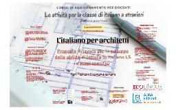 L'italiano per architetti