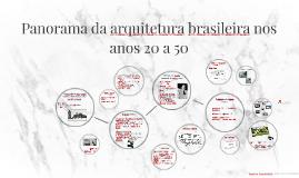Panorama da arquitetura brasileira nos anos 20 a 50