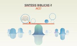 SINTESIS BIBLICAS 2