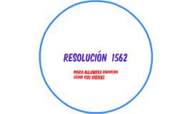 resolución  1562