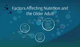 Factors Affecting Nutrition and the Older Adult