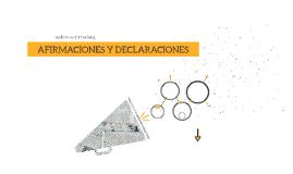 AFIRMACIONES Y DECLARACIONES