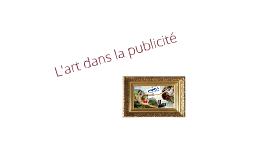 L'art dans la publicité