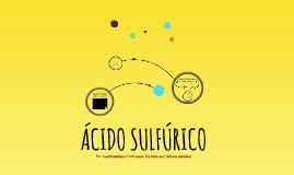 ¿Qué tipo de compuesto es el ácido sulfúrico?