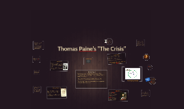 "Copy of Thomas Paine's ""The Crisis"""