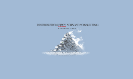 DISTRIBUTION BPO'S SERVICE CONSULTING