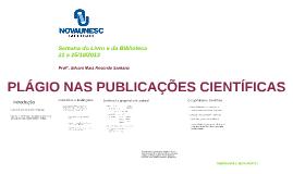 PLÁGIO NAS PUBLICAÇÕES CIENTÍFICAS