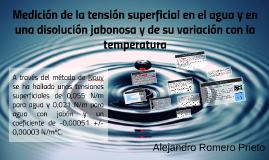 Medición de la tensión superficial en el agua y en una disol
