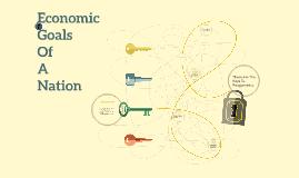Economic Goals of a Nation