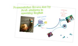 Pronunciation Errors don by Arab students in speaking  English