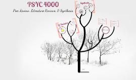 PSYC 4000 UWC Workshop: Peer Review, Lit. Reviews, Synthesis