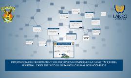 IMPORTANCIA DEL DEPARTAMENTO DE RECURSOS HUMANOS EN LA CAPAC